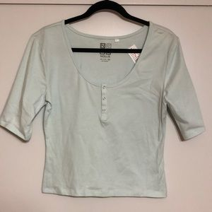 NWT mint green cropped top